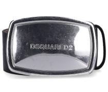 Gürtel BEM0223 Kalbseder Usedlook logo negro