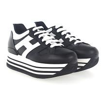 Sneaker H283 Kalbsleder schwarz weiß