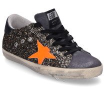 Sneaker low SUPERSTAR Glitter Veloursleder Glitzer