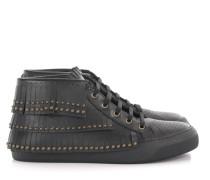Sneaker high BASTIAN Kalbsleder Fransen Nieten -kombi