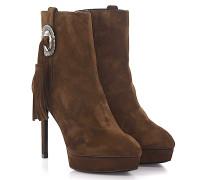 Stiefeletten Boots Janis 80 Plateau Veloursleder