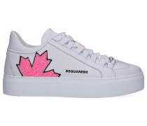 Sneaker low CANADIAN TEAM Kalbsleder Glitzer Logo
