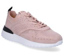 Sneaker low A0W590 Veloursleder Lochmuster altrosa
