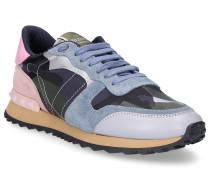 Sneaker low CAMUFLAGE Kalbsleder Veloursleder