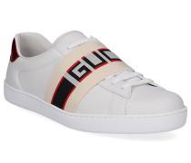 Sneaker 52346 Glattleder Logo Streifen