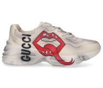 Sneaker low RHYTON Kalbsleder Logo cremeweiß