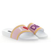 Sandalen Kalbsleder Logo Prägung rosa