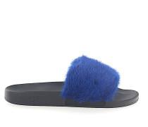 Sandalen SLIDE Kautschuk schwarz Nerz