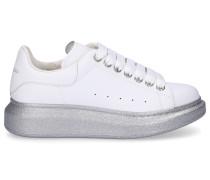 Sneaker low LARRY Glitter Kalbsleder Logo weiß