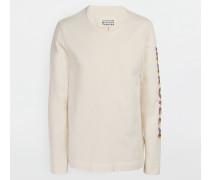 Langärmliges T-shirt Weiß Baumwolle