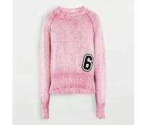 Pullover Mit Rundkragen Rosa