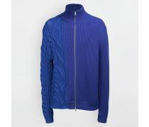 Strickjacke Marineblau Wolle, Polypropylen, Polyamid