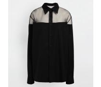 Langarmhemd Schwarz Baumwolle