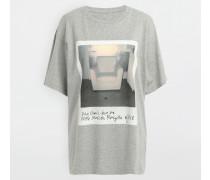 Kurzärmliges T-shirt Grau Baumwolle