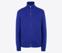 Strickjacke Marineblau Wolle