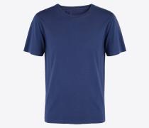Kurzärmliges T-shirt Blau Baumwolle