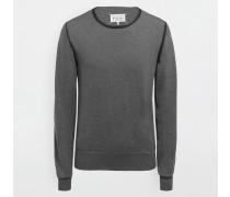 Pullover Mit Rundkragen Granitgrau