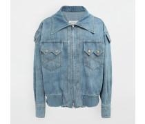 Mantel Blau Baumwolle