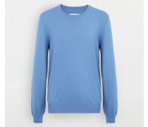 Pullover Mit Rundkragen Himmelblau