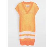 Ärmelloser Pullover Orange Acryl, Mohair, Polyamid
