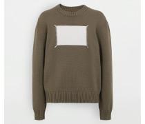Pullover Mit Rundkragen Militärgrün