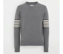 Pullover Mit Rundkragen Grau