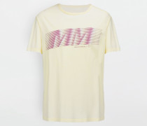 Kurzärmliges T-shirt Gelb Baumwolle