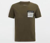 Kurzärmliges T-shirt Militärgrün Baumwolle