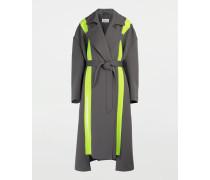 Mantel Grau Polyester