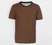 Kurzärmliges T-shirt Ocker Baumwolle