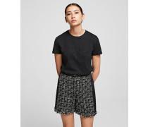 T-Shirt mit Silhouette Karl x Olivia