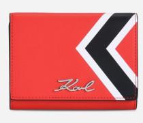 Mittelgroße Leder-Geldbörse K/Stripes