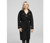 Mantel aus einem Wolle-Mix mit Gürtel