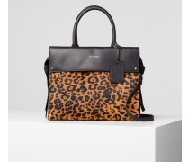 K/Ikon Handtasche mit Tragegriff und Leo-Print