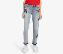 Kaptain Karl Girlfriend-Jeans aus Denim