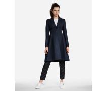 Mantel aus melierter Wolle