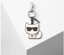 Beloved Choupette complete with signature sunglasses features as a playful keychain. Team this key fob with the range of statement accessories for the complete K/Ikonik look.    •      Leather •      Metal keyring