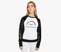 Ärmelloses Sweatshirt mit Pailletten und Logo