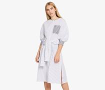 Streifen-Kleid aus Baumwoll-Popeline