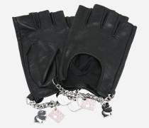 K/Charm Fingerlose Handschuhe aus Leder