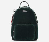 Karl x Kaia Mini-Rucksack aus glitzerndem Samt