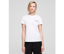 T-Shirt mit Miniatur-Silhouetten Karl x Olivia