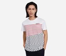 T-Shirt mit Streifen-Mix