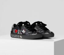 Skool Sneaker mit Applikationen und Ziersteinen