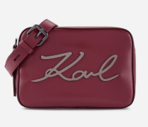 Kompakte K/Signature Tasche aus Leder