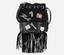 K/Klassik Mini Bucket Bag mit Ansteckern