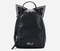 K/Rocky Mini-Rucksack aus Leder im Choupette-Design