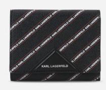K/Stripe Geldbörse mittelgroß mit Logo