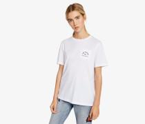 Kl Sweatshirt mit Logo auf der Brusttasche