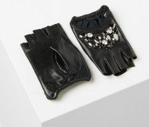 Fingerlose Handschuhe mit Schmucksteinen